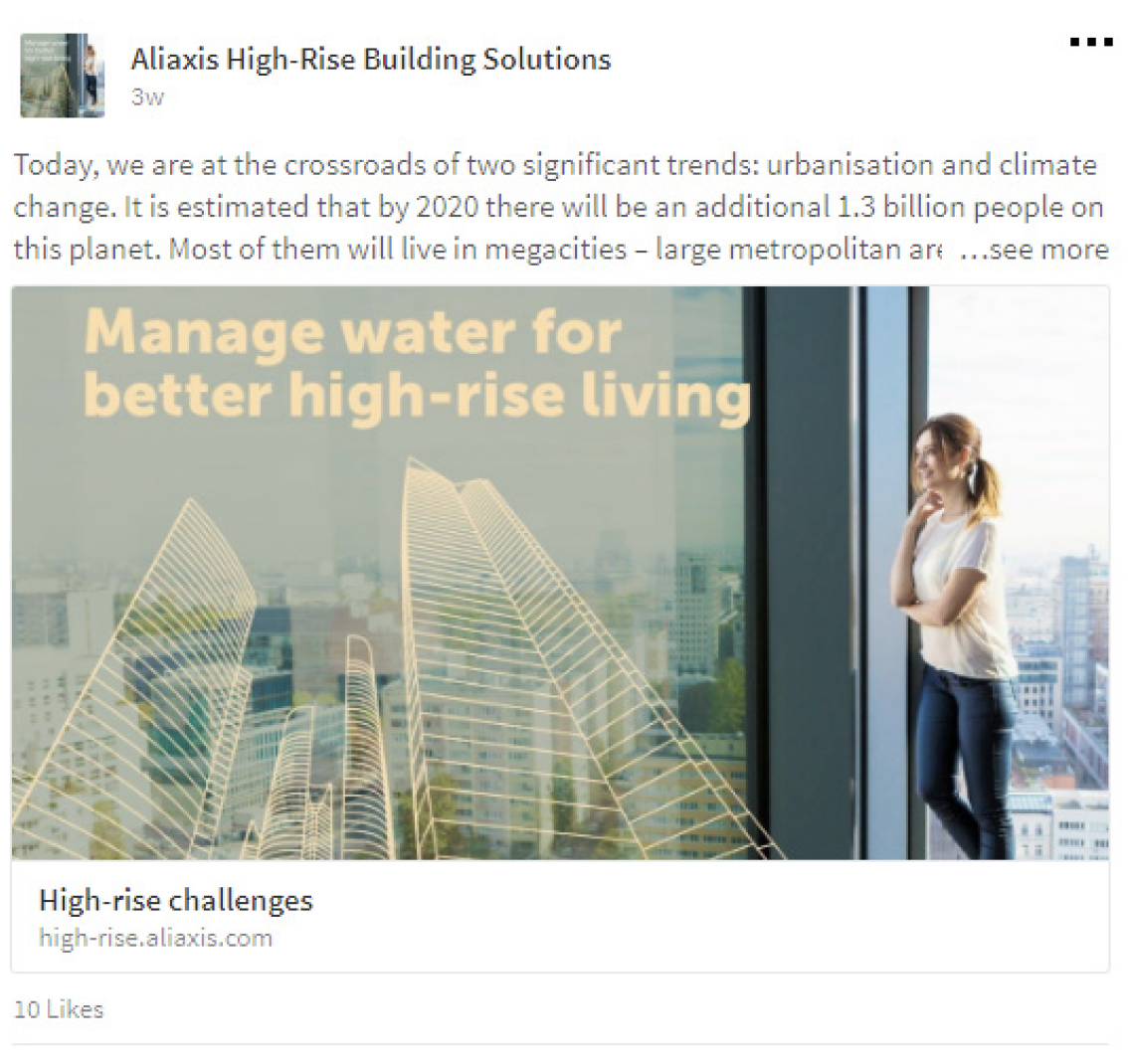 Social media campaign for Aliaxis by Living Stone