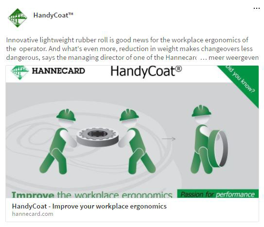 Social media campaign Hannecard handycoat by Living Stone
