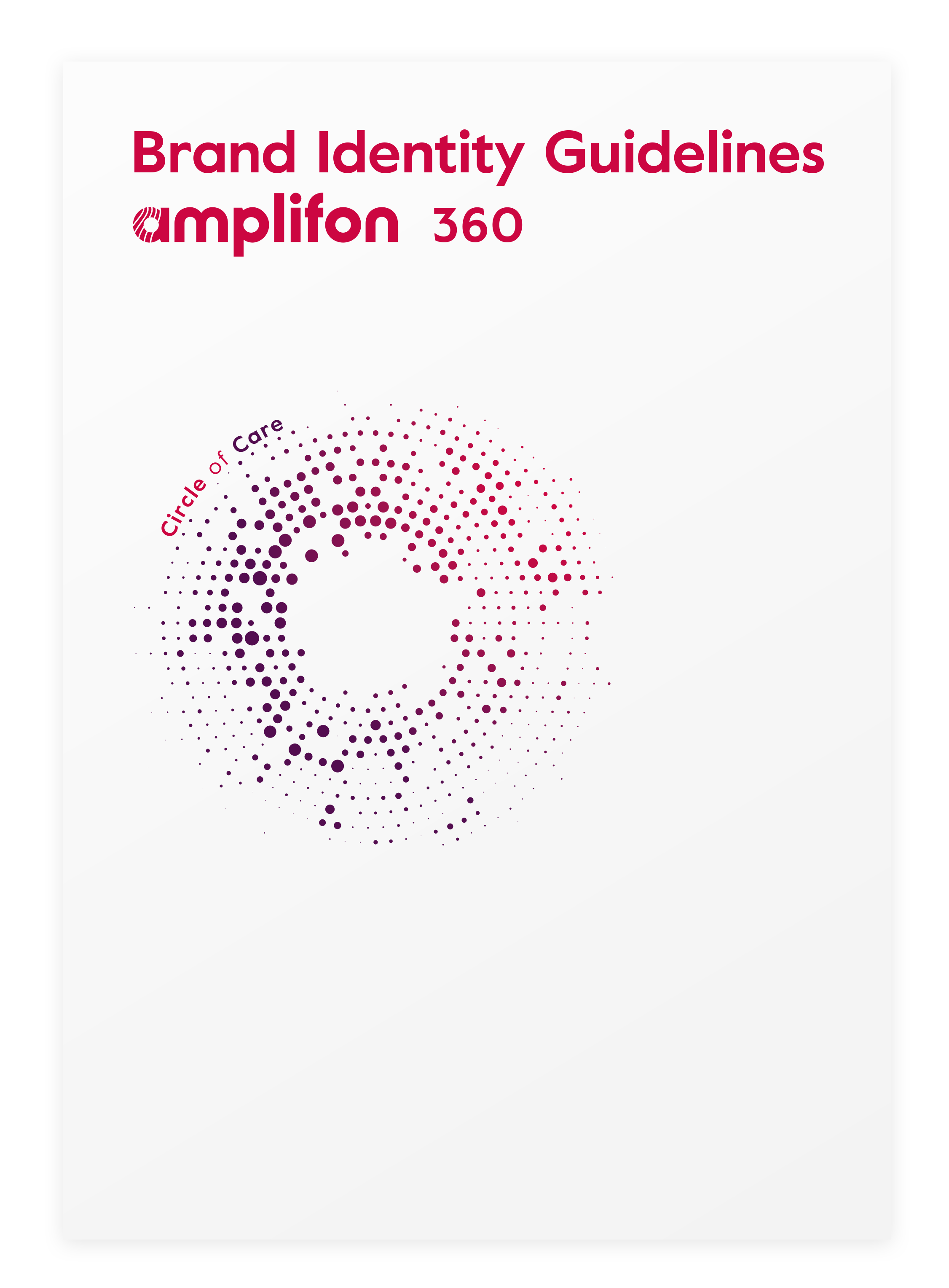 brand identity for Amplifon made by Living Stone